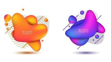 set van abstracte moderne grafische elementen vector