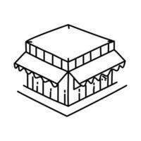 winkel pictogram. doodle hand getrokken of overzicht pictogramstijl
