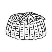 Ricotta kaas pictogram. doodle hand getrokken of overzicht pictogramstijl vector