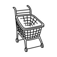 trolley pictogram. doodle hand getrokken of overzicht pictogramstijl vector