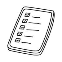 winkel lijstpictogram. doodle hand getrokken of overzicht pictogramstijl vector