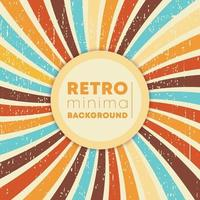 vintage swirly stralen achtergrond met retro grunge textuur. vector illustratie