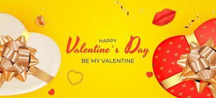 Valentijnsdag achtergrond gele kleur