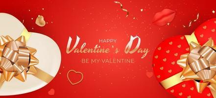 Valentijnsdag achtergrondontwerp. sjabloon voor reclame-, web-, sociale media- en mode-advertenties. poster, flyer, wenskaart, koptekst voor website vectorillustratie