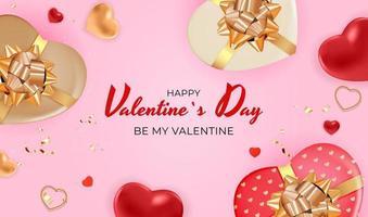Valentijnsdag achtergrond roze kleur