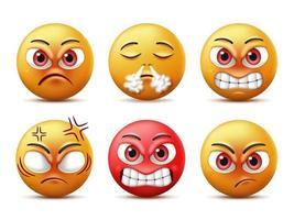 lachende gezichten emoticon tekenset