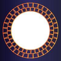 kleurovergang oranje fotolijst sjabloon op verloop achtergrond vector
