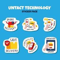 stickerpakket onacte technologie vector