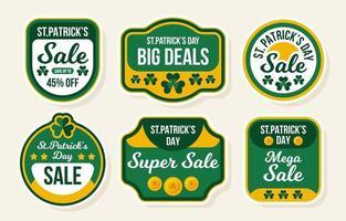 st. patricks day verkoop label vector