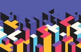 kleurrijke lego stijl platte achtergrond vector