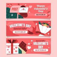 valentijn verkoop banner vector