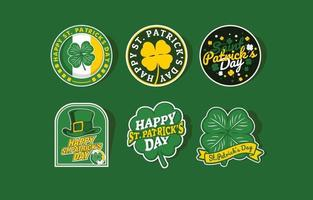 st. patrick's day sticker vector