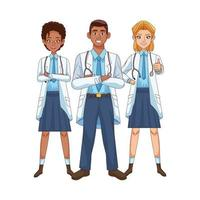 professionele diverse dokterskarakters vector