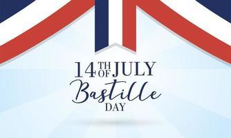 Bastille-dagvieringskaart met Franse vlag vector