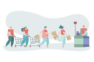 jonge mensen winkelen