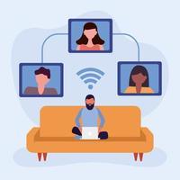 studenten voor online onderwijsconcept