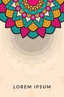 decoratieve kleurrijke mandala banner