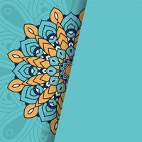 decoratieve bloemenmandala met blauwe achtergrond