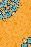 decoratieve bloemenmandala met oranje achtergrond