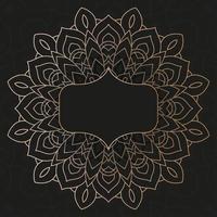 decoratieve donkere mandala-banner