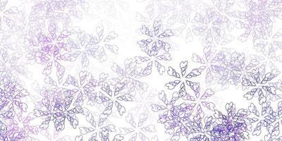 lichtpaarse vector abstracte lay-out met bladeren.