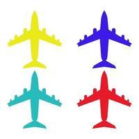 aantal vliegtuigen op witte achtergrond