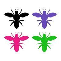 aantal bijen op witte achtergrond