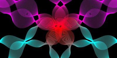 moderne abstracte achtergrond met golvende lijnen in paarse, rode en blauwe gradaties vector