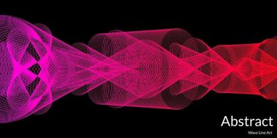 moderne abstracte achtergrond met golvende lijnen kleurrijk vector