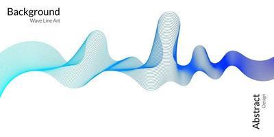 moderne abstracte achtergrond met golvende lijnen in blauwe gradaties