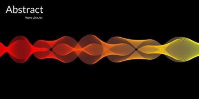 moderne abstracte achtergrond met golvende lijnen in rode en gele gradaties vector