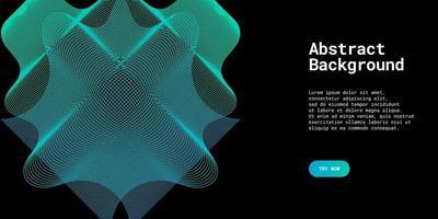 moderne abstracte achtergrond met golvende lijnen in lichtblauwe gradaties vector