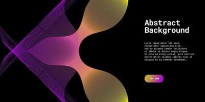 moderne abstracte achtergrond met golvende lijnen in gele en paarse gradaties vector