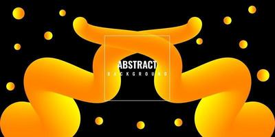 moderne abstracte vloeibare 3d achtergrond met geel kleurverloop