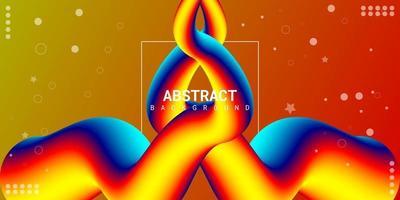 moderne abstracte vloeibare 3d achtergrond met kleurrijk verloop