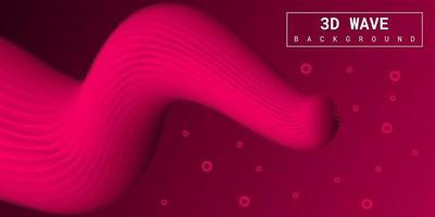 moderne abstracte vloeibare 3d achtergrond met roze verloop vector