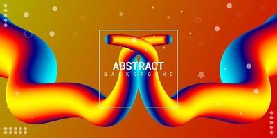 moderne abstracte vloeibare 3d achtergrond met kleurrijk verloop vector