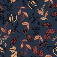 herfstbladeren en bloemenpatroon