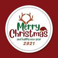 vrolijk kerstfeest wenskaartsjabloon vector