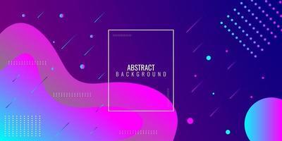 moderne abstracte paarse en blauwe gradiënt golvende geometrisch vector