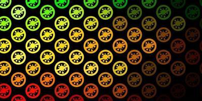 donkergroen, geel vectormalplaatje met grieptekens. vector