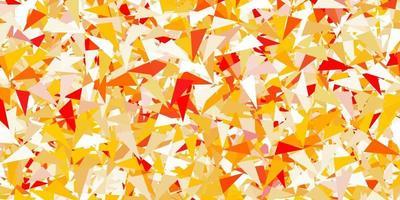 lichtoranje vector achtergrond met driehoeken.