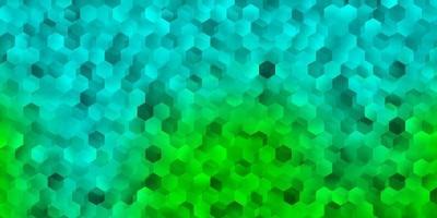 lichtgroene vector sjabloon in een zeshoekige stijl.