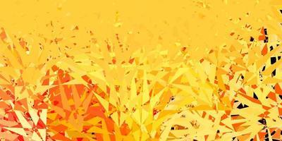 lichtroze, gele vectorachtergrond met driehoeken. vector