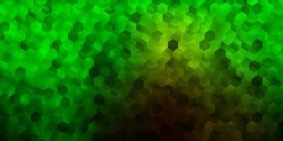 donkergroen vectorpatroon met zeshoeken. vector