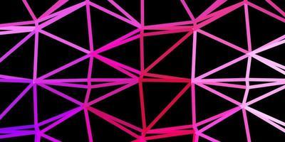 donkerpaars, roze vector driehoek mozaïek achtergrond.