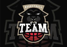 Black Panther basketbal mascotte vector
