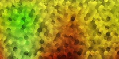 lichtgroen, geel vectorpatroon met zeshoeken. vector