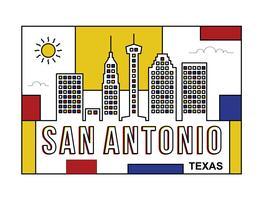 San Antonio briefkaart illustratie vector