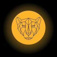 cheetah hoofd geometrische vectorillustratie.